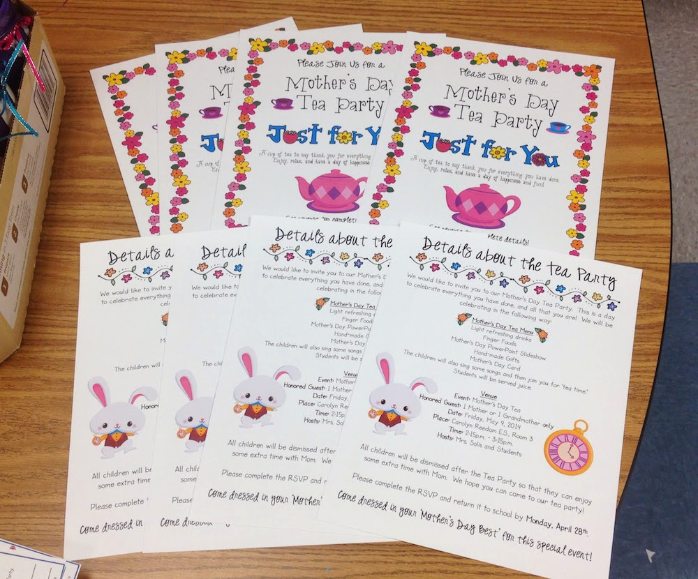 Mother Day Tea Invitation Best Of Mrs solis S Teaching Treasures Getting Ready for Our