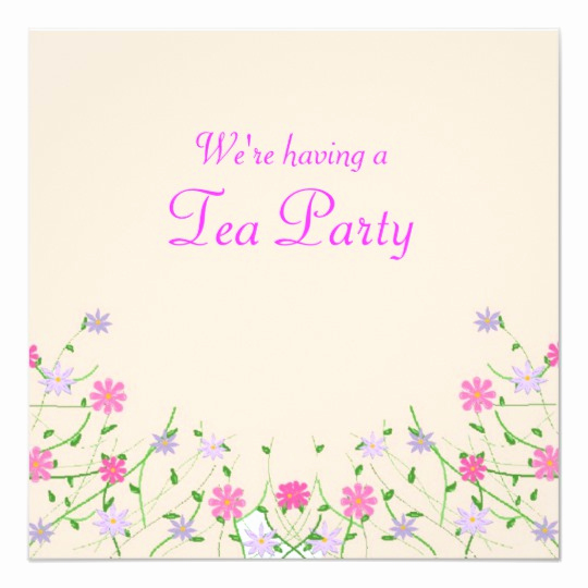 Mother Day Tea Invitation New Mothers Day Tea Party Invitation