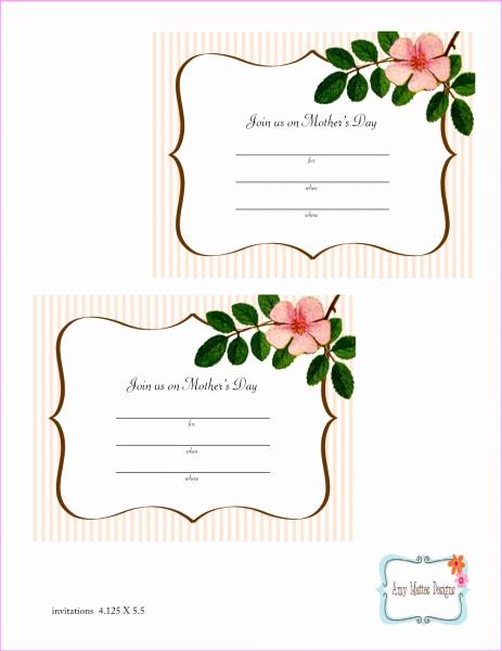Mother Day Tea Invitation Unique Emj Design Co Mother S Day Printables