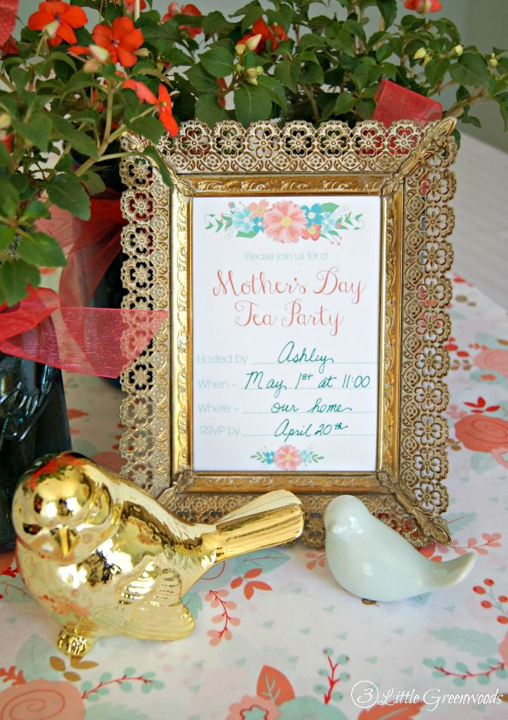 Mothers Day Tea Invitation Awesome Mother S Day Tea Party Invitation Free Printables