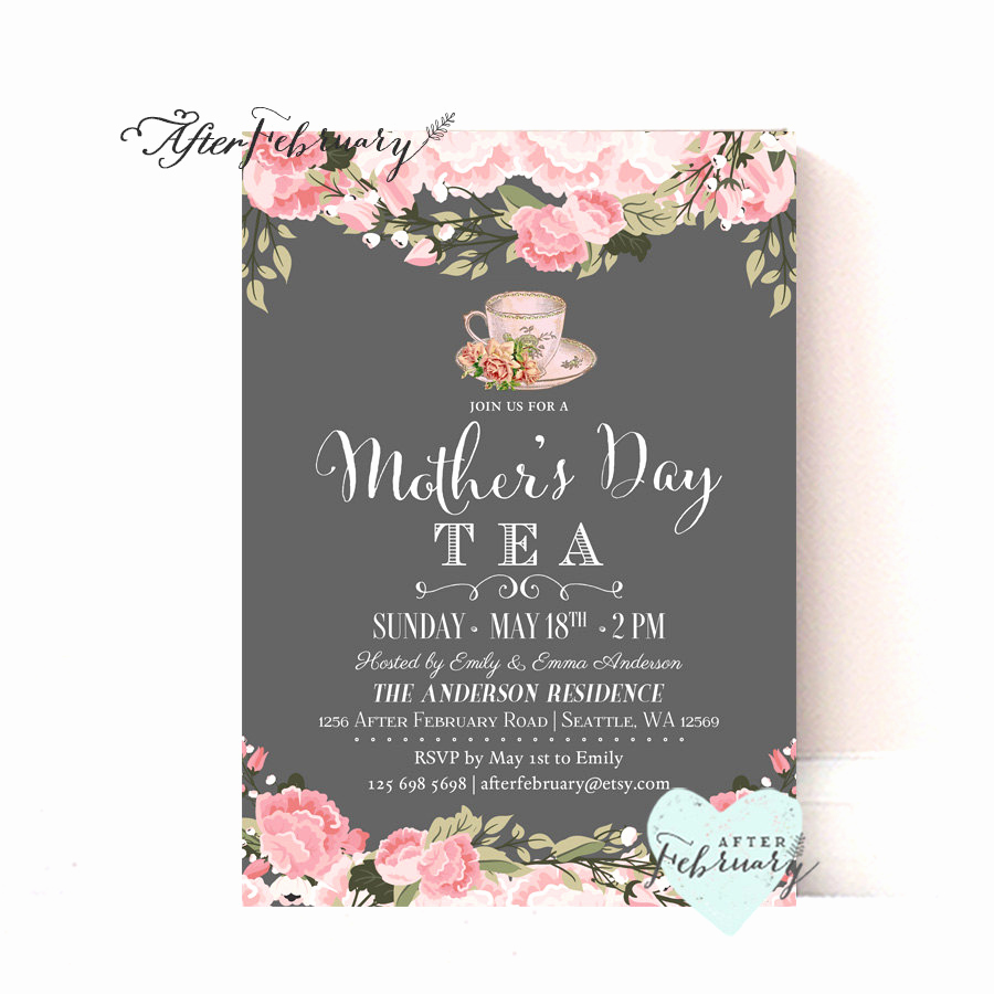 Mothers Day Tea Invitation Best Of Mother S Day Invitation Mother S Day Tea Party