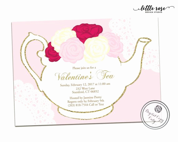 Mothers Day Tea Invitation Fresh Valentine S Tea Party Invitation Mother S Day by