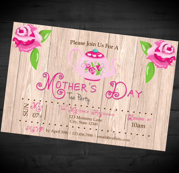 Mothers Day Tea Invitation Inspirational Mother S Day Invitation Templates 17 Psd Ai Eps