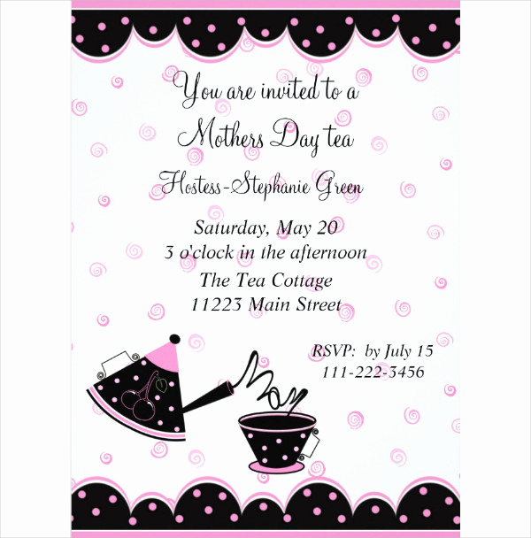 Mothers Day Tea Invitation New 17 Mother S Day Invitation Templates Free & Premium