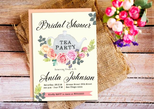 Mothers Day Tea Invitation New Bridal Shower Tea Party Invitations Tea Party Invite