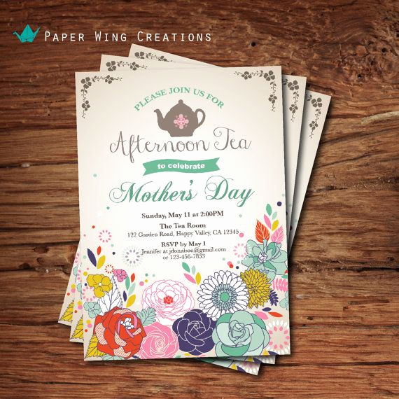 Mothers Day Tea Invitation Unique 17 Best Images About Mothers Day Tea On Pinterest