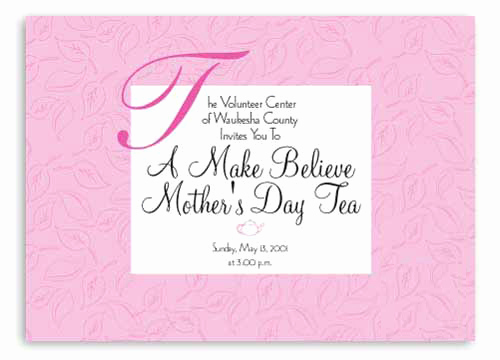 Mothers Day Tea Invitation Unique Mother S Day Cards for 2012 Mother S Day Party Invitation