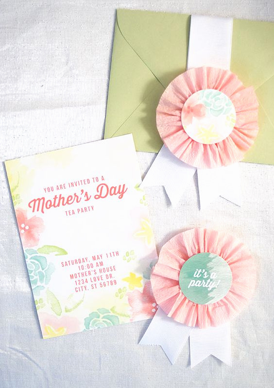 Mothers Day Tea Invitation Unique Pinterest • the World's Catalog Of Ideas