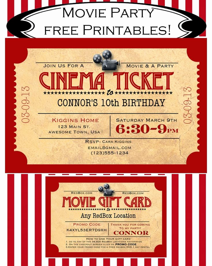 Movie Night Invitation Template Elegant 25 Best Ideas About Movie Night Invitations On Pinterest