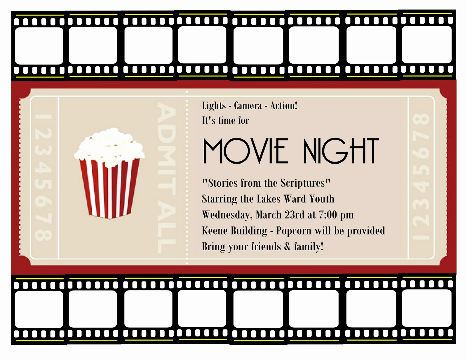 Movie Night Invitation Template Inspirational A Place for the Lady March 2011