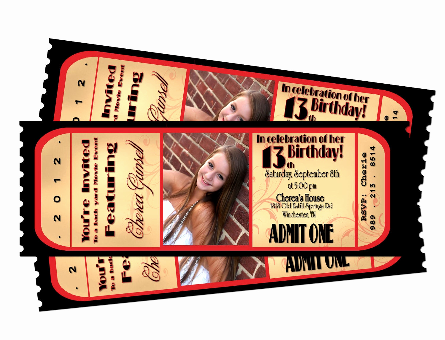 Movie Night Invitation Template Inspirational Movie Night Ticket Birthday Printable Invitation by Sarahmkey