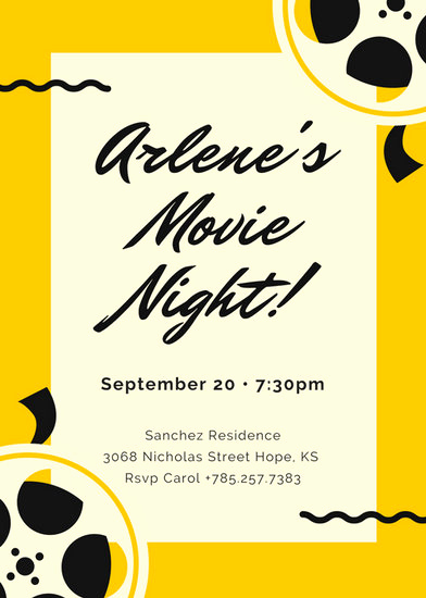 Movie Night Invitation Template Lovely Customize 646 Movie Night Invitation Templates Online Canva