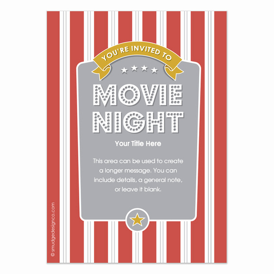 Movie Night Invitation Template Luxury 29 Of Movie Night Invitation Template