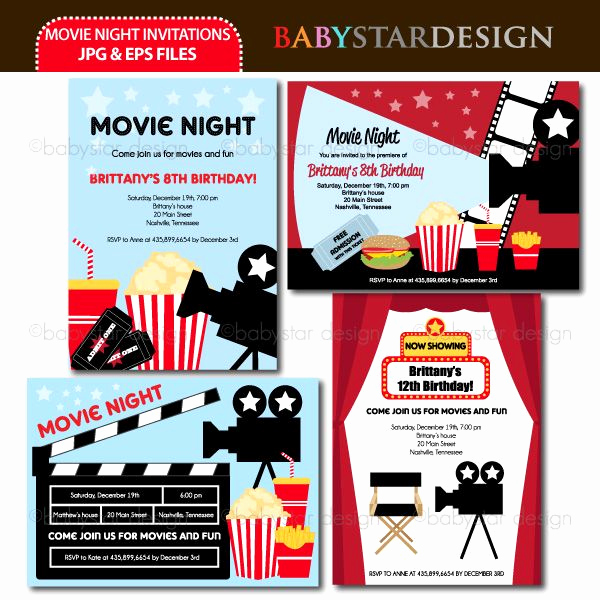 Movie Night Invitation Templates Awesome these Adorable Invitation Templates are Perfect for Movie