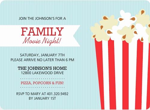 Movie Night Invitation Templates Elegant Family Movie Night Ideas