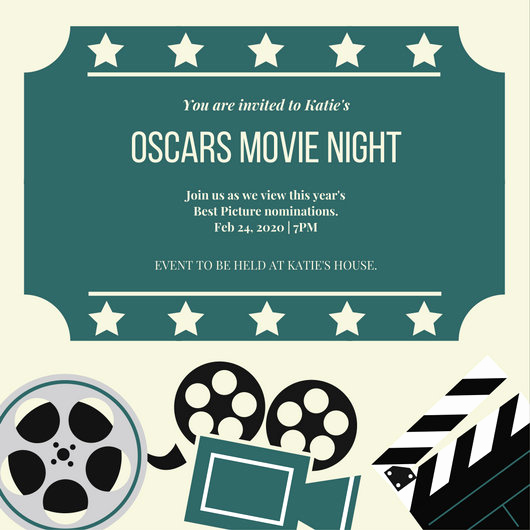 Movie Night Invitation Templates Luxury Movie Night Invitation Templates Canva