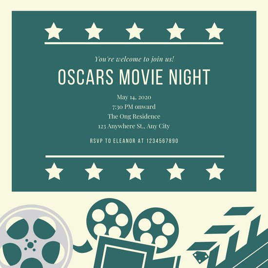 Movie Night Invitation Templates New Customize 189 Movie Night Invitation Templates Online Canva