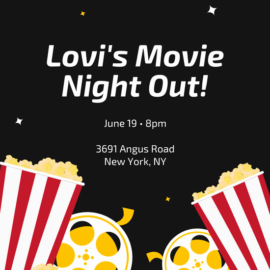 Movie Night Invitation Templates Unique Customize 189 Movie Night Invitation Templates Online Canva