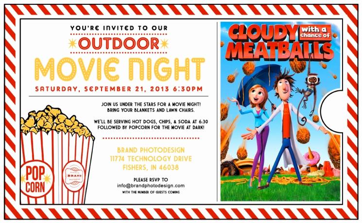 Movie Night Invitation Templates Unique Outdoor Movie Night Invitation Template