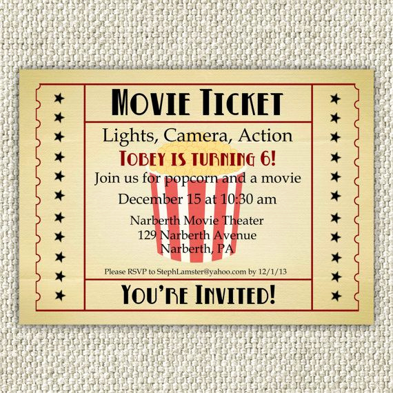 Movie Ticket Birthday Invitation Best Of Best 25 Vintage Movie theater Ideas On Pinterest
