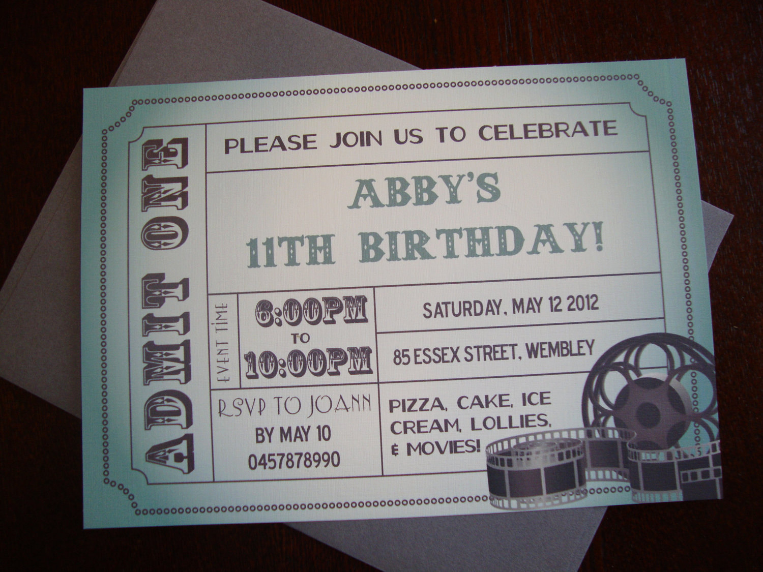 Movie Ticket Birthday Invitation Best Of Diy Printable Movie Ticket Birthday Invitation