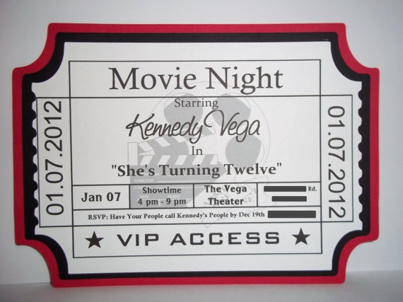 Movie Ticket Birthday Invitation Elegant 78 Images About Movie Party On Pinterest