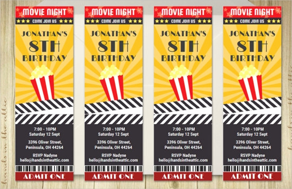 Movie Ticket Invitation Template Free Beautiful 56 Printable Ticket Templates Psd Ai Word
