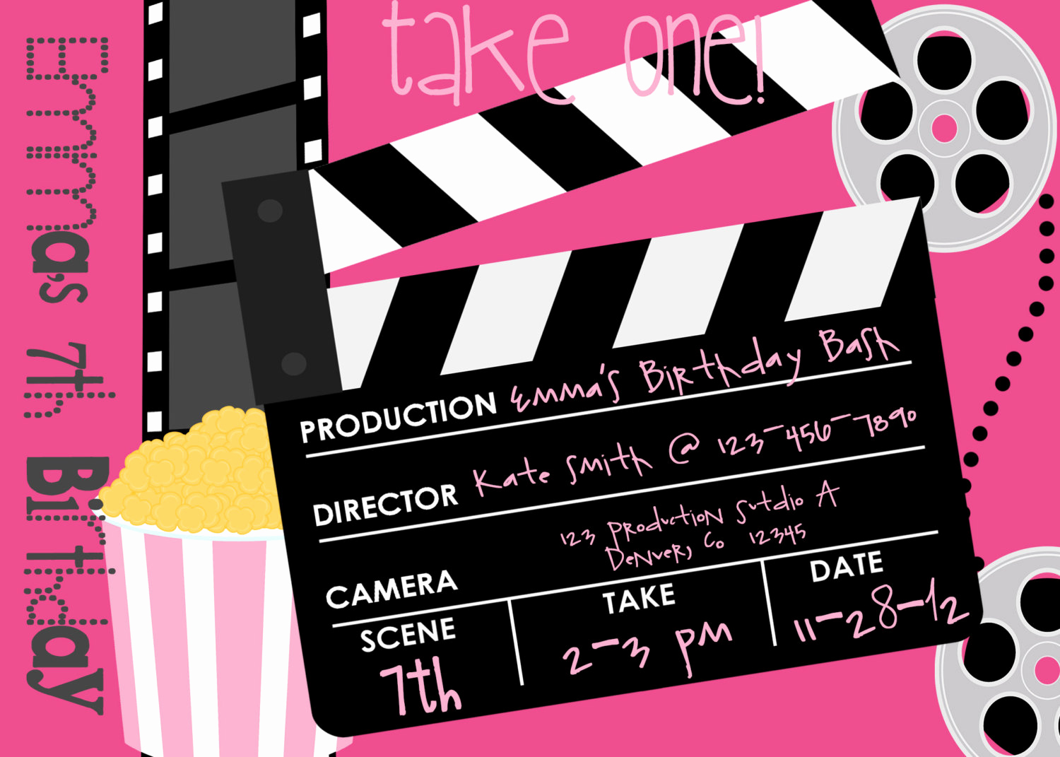 Movie Ticket Invitation Template Free Best Of Movie themed Party Invitations Free Cloudinvitation