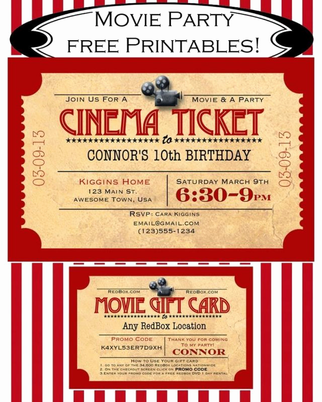 Movie Ticket Invitation Template Free Unique Blank Movie Ticket Invitation Template Free Download Aashe