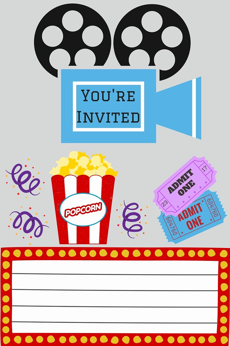 Movie Ticket Invitation Template Lovely Free Printables Printables