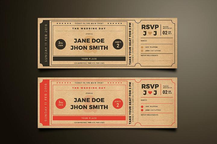 Movie Ticket Invitation Template Unique 20 Elegant Wedding Invitation Templates Word Psd Ai