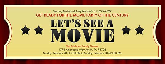 Movie Ticket Invitation Template Unique Free Movie Tv Night Line Invitation