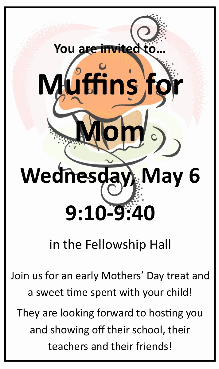 Muffins with Mom Invitation Elegant Image format