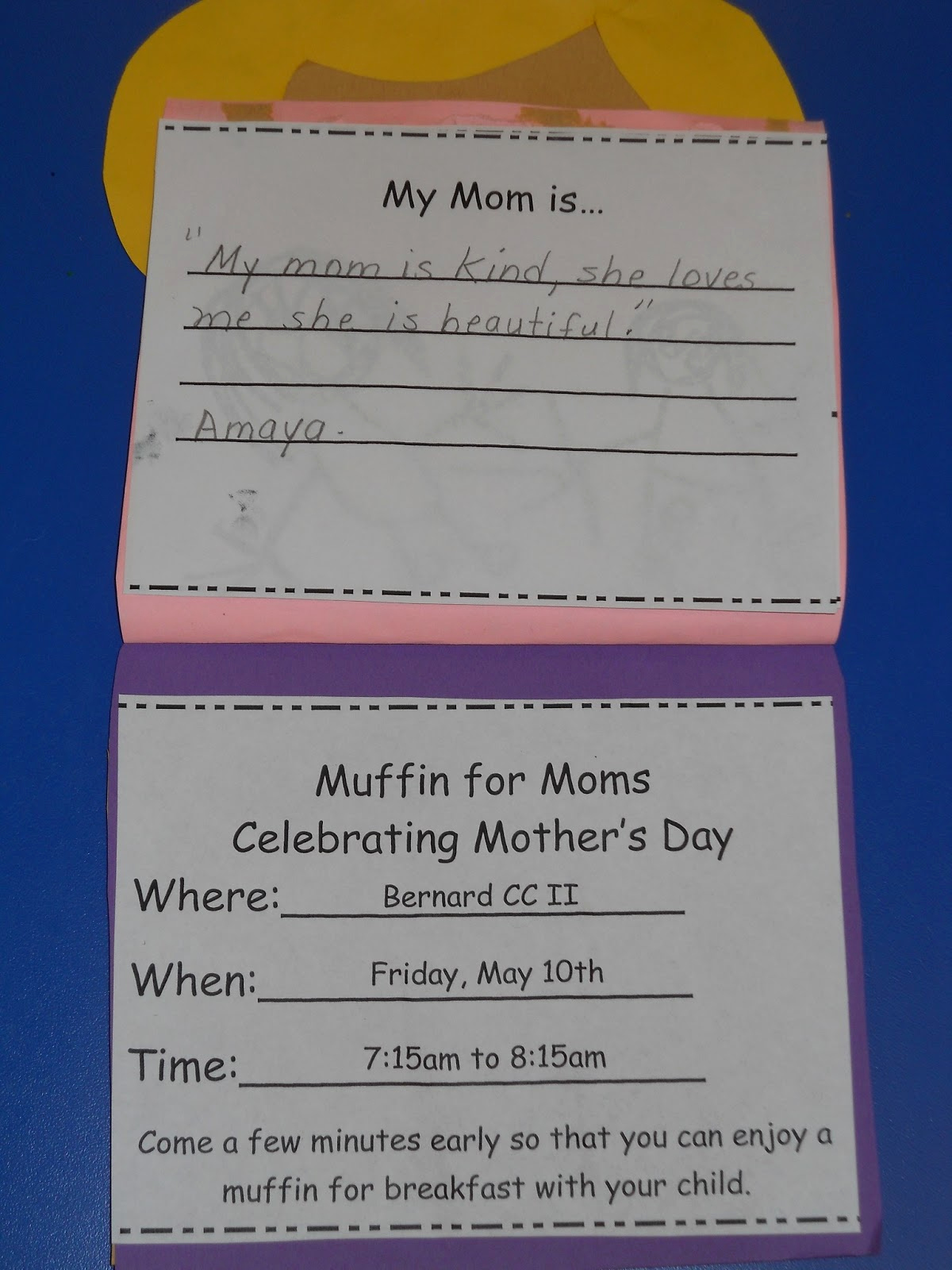 Muffins with Mom Invitation Elegant Learning and Teaching with Preschoolers Muffins for Mom