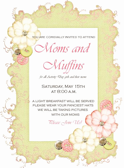 Muffins with Mom Invitation New Very Cute Idea for Mommy and Me Activity and the