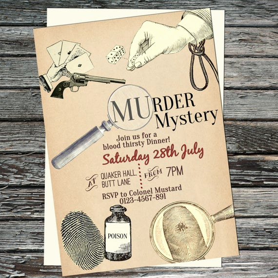 Murder Mystery Dinner Invitation Awesome Murder Mystery Party Dinner Invitations Printable Invite