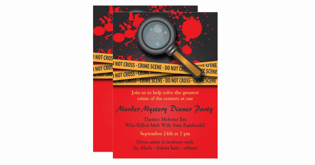 Murder Mystery Dinner Invitation Beautiful Murder Mystery Dinner Party Invitation