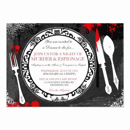 Murder Mystery Dinner Invitation Best Of Murder Mystery Dinner Party Invite