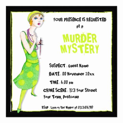 Murder Mystery Dinner Invitation Best Of the Ingenue Murder Mystery Invitation