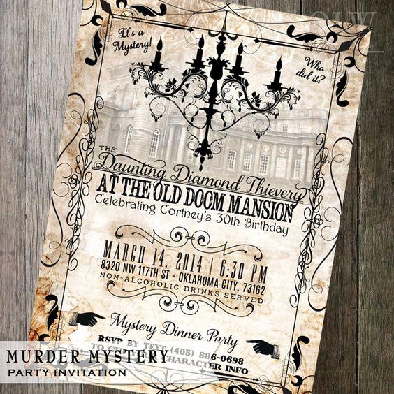 Murder Mystery Dinner Invitation Elegant Mystery Dinner Party Dinner Party Invitations and Mystery