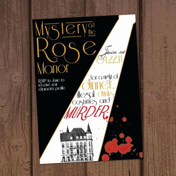 Murder Mystery Dinner Invitation Fresh 1920 S Murder Mystery Dinner Party Invitation