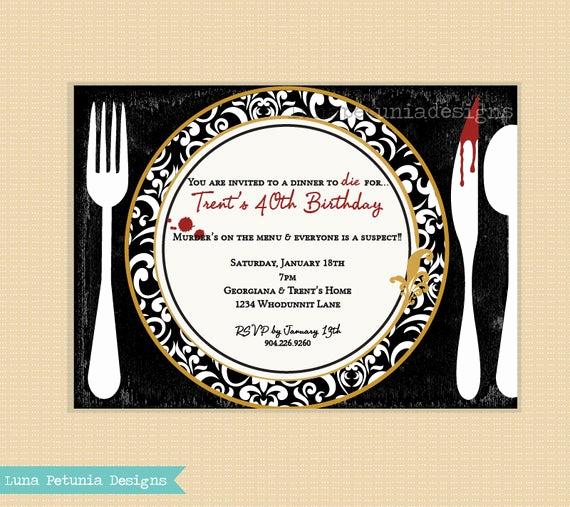 Murder Mystery Dinner Invitation Fresh Murder Mystery Dinner Party Invitation