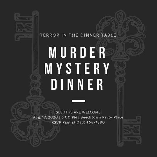 Murder Mystery Dinner Invitation Inspirational Customize 360 Vintage Invitation Templates Online Canva