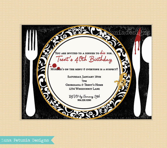Murder Mystery Dinner Invitation Inspirational Murder Mystery Dinner Party Invitation