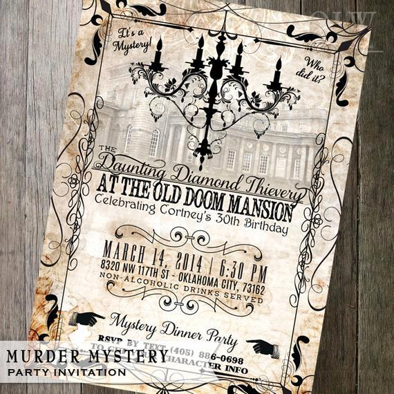 Murder Mystery Dinner Invitation Inspirational Murder Mystery Dinner Party Invitation Vintage by
