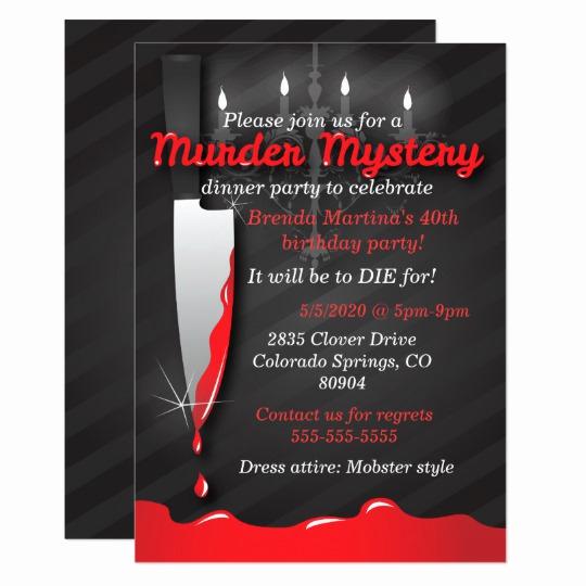 Murder Mystery Dinner Invitation New Murder Mystery Dinner Invitation