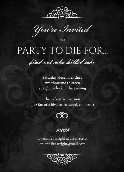 Murder Mystery Dinner Invitation Unique Murder Mystery Bridal Shower Ideas Invitations themes