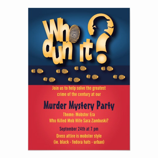 Murder Mystery Dinner Invitation Unique whodunit Murder Mystery Party Invitation