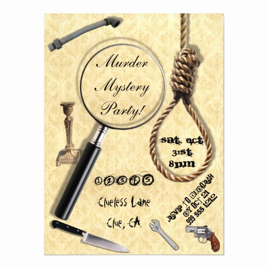 Murder Mystery Invitation Template Free Beautiful Murder Mystery Party Invitations