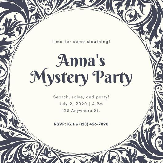 Murder Mystery Invitation Template Free Best Of Dark Gray Patterned Murder Mystery Invitation Templates